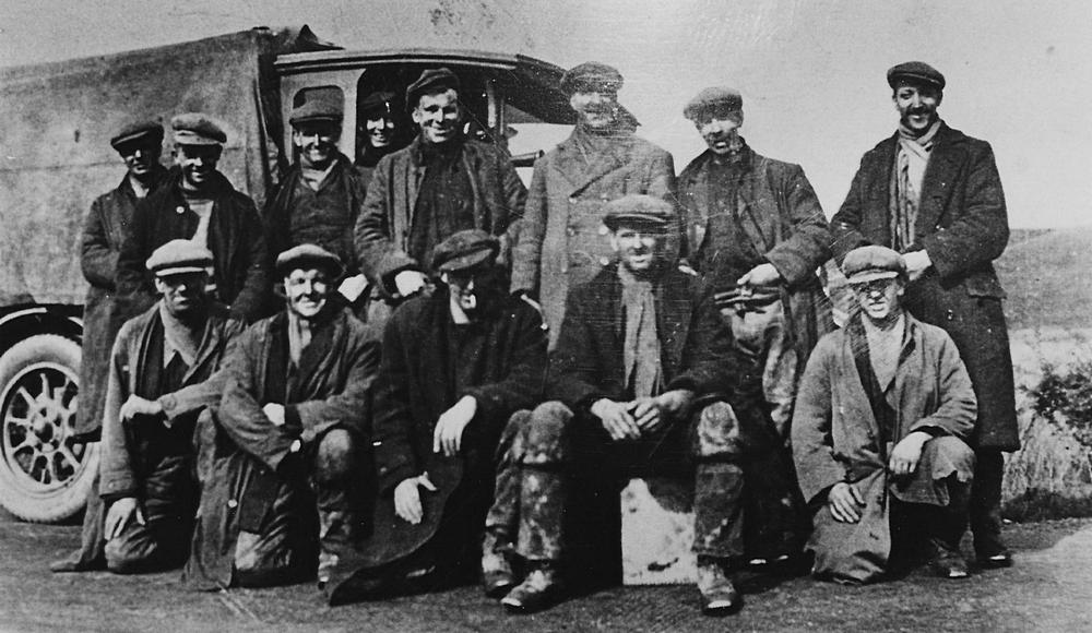 Miners with lorry