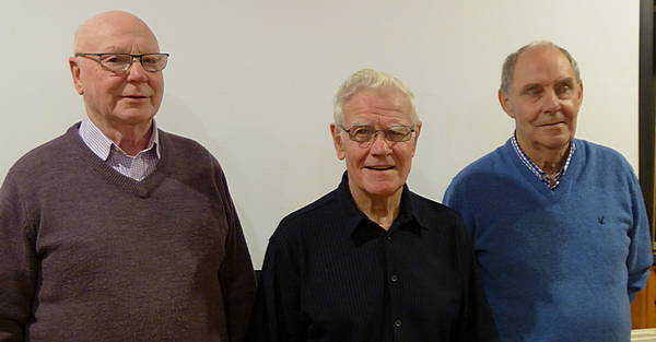 Jim Plenderleith, Peter McLeish and John Donnachie