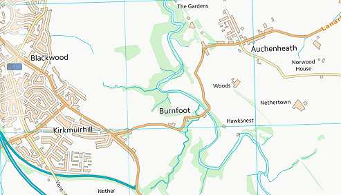 Map showing Burnfoot