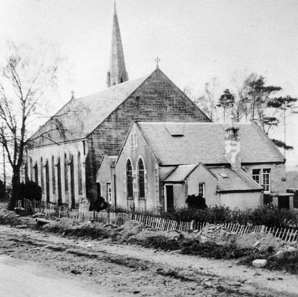 Kirkmuirhill Church when pavement repaired