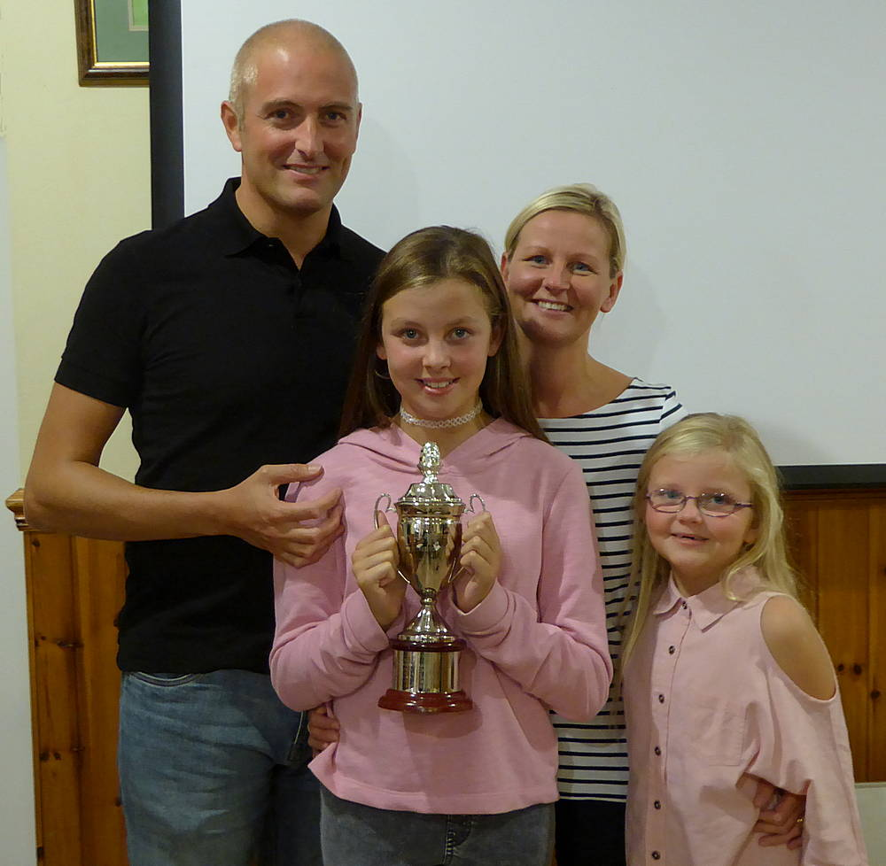 Ellie McKendrick winner of Jim Hamilton trophy