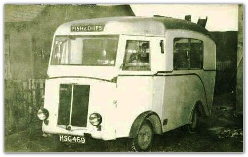 Mobile Fish and Chip van 1960s